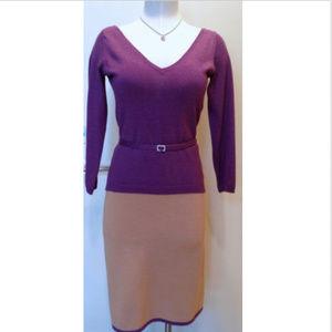 Nicole Miller V Neck Jersey 2 pieces Shimmer Dress